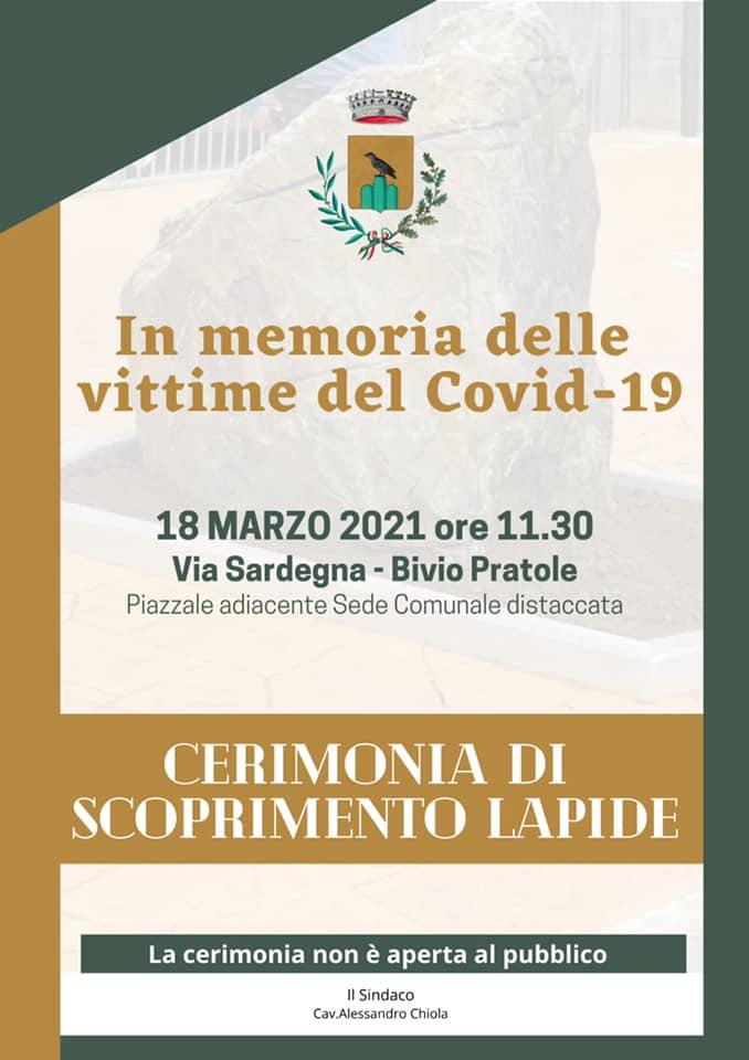 """18 marzo """"Giornata nazionale in memoria delle vittime da Covid-19"""""""
